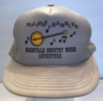 Vtg Holiday Rambler Nashville Country Music Adventure Snapback Trucker Hat Foam