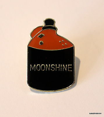 New Moonshine Lapel Hat Pin College Party Tie Tack Alcohol Beverage Cartoon