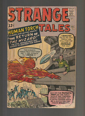 Strange Tales # 105  The Return of the Wizard !  grade 2.0 scarce book !
