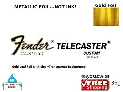 Fender Telecaster Custom Guitar Decal Headstock Inlay Decal Restoration 36g