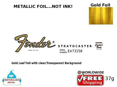 Fender Stratocaster Guitar Decal Headstock Inlay Decal Restoration 37g