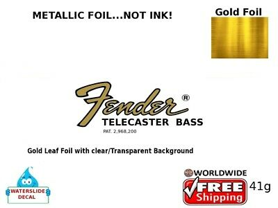 Fender Telecaster Bass Guitar Decal Headstock Inlay Decal Restoration 41g