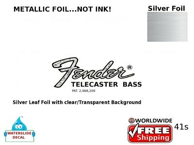Fender Telecaster Bass Guitar Decal Headstock Inlay Decal Restoration 41s