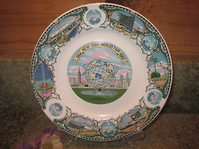 New York World's Fair 1964-1965 Souvenir Collector Plate Unisphere 7 1/4 inches