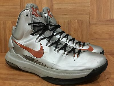 low priced 49dcd 3c75d RARE🔥 Nike KD V Kevin Durant Texas Longhorns Silver Orange Sz 10.5 554988 -002
