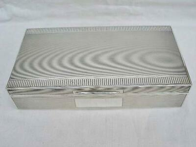 Superb Sterling Silver Stylish Art Deco Cigarette Box Birmingham 1947.