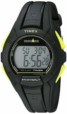 Timex Men's TW5K93800 Ironman Essential 10 Full-Size Black/Lime Resin Strap W...