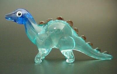 Glass DINOSAUR BABY STEGOSAURUS Painted Ornament Delicate Decorative Curio Gift