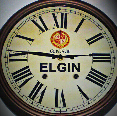 GNSR Great North of Scotland Railway Styled Station Wall Clock, ELGIN Station