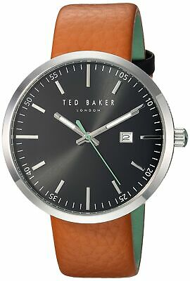 4ebd0feb070d4 Ted Baker Men s Jack Stainless Steel Japanese-Quartz Watch with Leather  Strap.