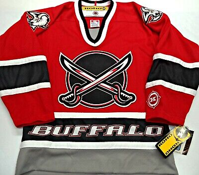 7ff452364 NWT VINTAGE BUFFALO SABRES RED 3rd YOUTH S M KOHO HOCKEY JERSEY EMBROIDERED