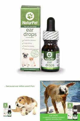 Relief Pain Ear Drops Treatment Dog Pet Medicine Clear Yeast Bacteria Infection