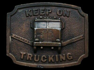Ke13134 Very Cool Vintage 1975 Bergamot **Keep On Trucking** Cab-Over Buckle