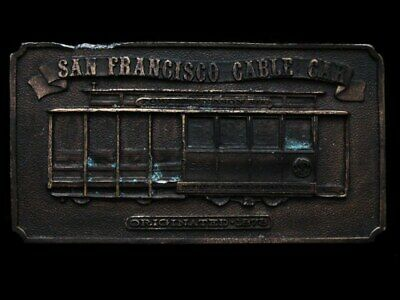 Ke17118 Vintage 1976 Bergamot **San Francisco Cable Car - 1873** Belt Buckle