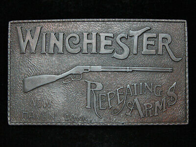 PA09103 VINTAGE 1970s **WINCHESTER REPEATING ARMS** FIREARMS & GUN BELT BUCKLE