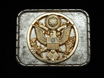 PG13139 VINTAGE 1970s **SEAL OF THE UNITED STATES OF AMERICA** BELT BUCKLE