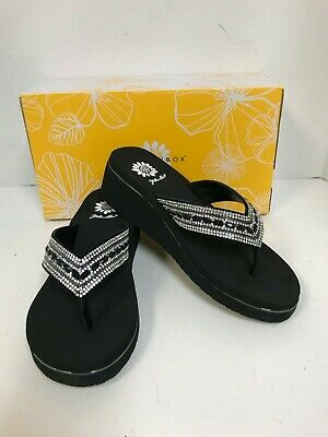 469cd5f2d197dd  45 NEW YELLOW Box Marcy Womens Thong Leather Sandals Sz 9 Slip On ...