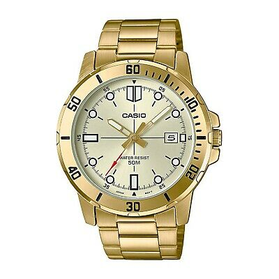 Casio MTP-VD01G-9EV Men's Enticer Gold Tone Stainless Steel Gold Dial Casual ...