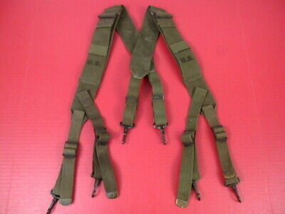 WWII US Army M1944 Field Pack Suspenders Complete - US Marked - Excellent Cond