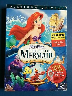 The Little Mermaid (DVD, 2006, 2-Disc Set, Platinum Edition)used