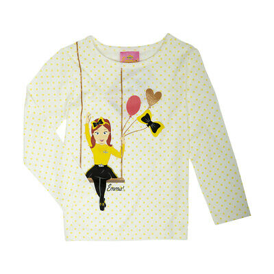 THE WIGGLES EMMA Girls Licensed long sleeve tee t shirt top New Free postage