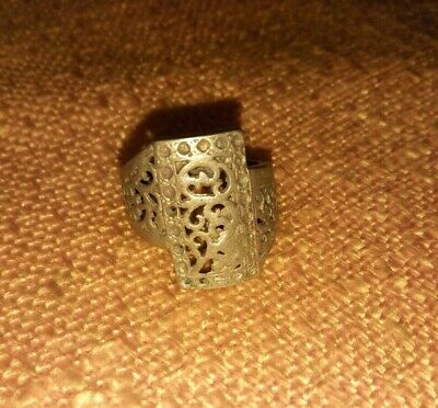 Rare Ancient ROMAN Bronze RING ARTIFACT Magnifique BAGUE
