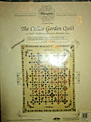 "NEW Hoopla Shelburne Museum ""The Calico Garden Quilt"" Pattern with Templates '97"