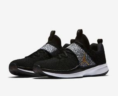 340fa804a2b0 Nike Air Jordan Trainer 2 Flyknit Mens Training Shoes LA Black Gold 921210  021