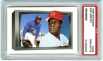 3a2be95c30 1989 BOWMAN TIFFANY Ken Griffey Sr, AND Ken Griffey Jr with Matching ...