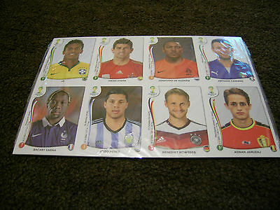 Panini World Cup Brazil 2014 update replacement stickers full set 71+extra