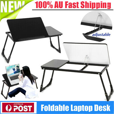 Adjustable Portable Laptop Computer Stand Desk Table Tray Foldable Wooden Tray