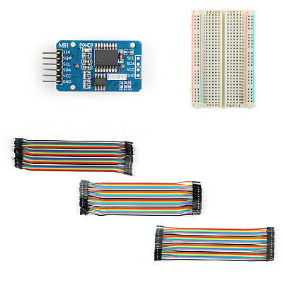 DS3231 AT24C32 Clock Timer Memory Module+400 Point Breadboard+120x Jump Wire M/F