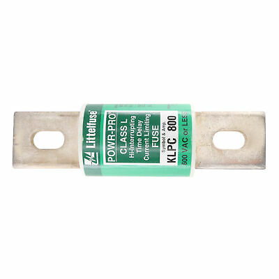 Littelfuse Klpc-800 Class L Hi-Interrupting Time Delay Fuse, 600-Vac, 800-Amp