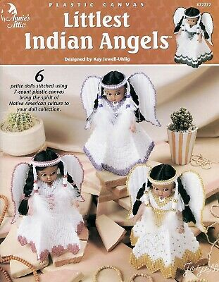Littlest Indian Angels Air Freshener Dolls plastic canvas pattern booklet Rare