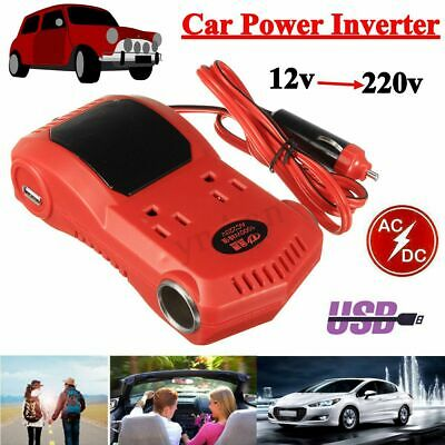 1000W Car Power Inverter DC 12V to AC 220V Converter Cigarette Lighter USB Plug