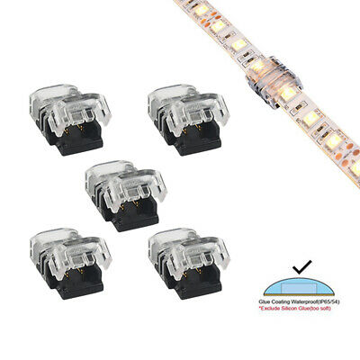 2/3/5Pin 8/10/12mm LED Connector Strip to Strip Solderless for LED Strip Light