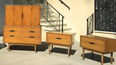 Gorgeous Vintage Thomasville 4-Piece Mid Century Modern Bedroom Set / Dresser