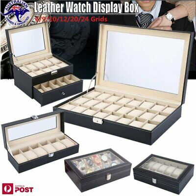 6/9/10/12/20/24 Watch Jewelry Storage Hold Box Watches Sunglasses Display Gift