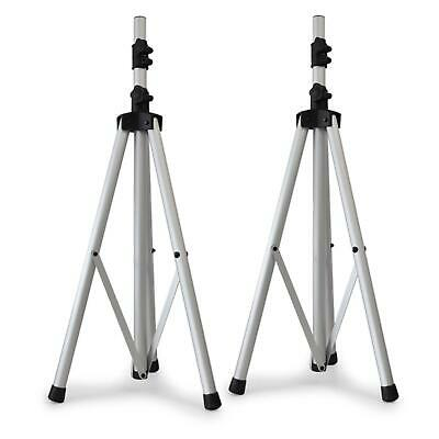 Two Pa Speaker Stand Tri-Pods Silver Brand New Sturdy * Free P&P Uk Offer *