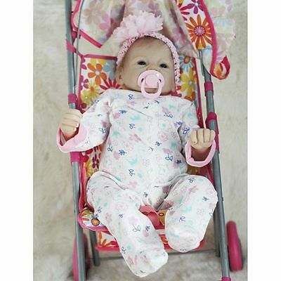 """22"""" Handmade Lifelike Reborn Baby Girl Doll Toy Silicone Vinyl Clothes Kids Gift"""