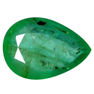 1.01 ct SIGNIFICANT PEAR CUT (8 x 6 mm) COLOMBIAN EMERALD NATURAL GEMSTONE
