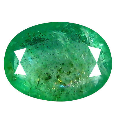 1.14 ct BEST OVAL CUT (9 x 6 mm) COLOMBIAN EMERALD NATURAL LOOSE GEMSTONE