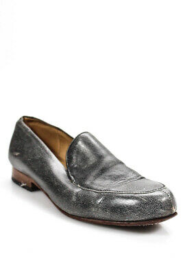 daa1ac061e3 Ralph Lauren Patent Leather Penny Loafers Womens 9 Glenda Gray Taupe.