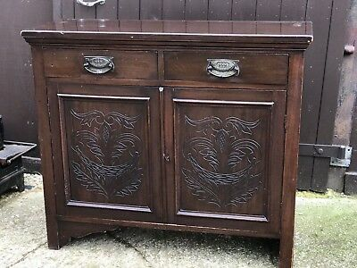 Antique Mahogany Chiffionier Dresser Sideboard Drawers Shabby Chic Upcycle