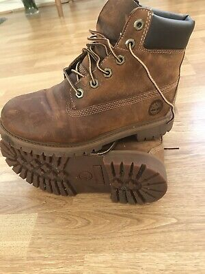 5e3cf085e7d9 Timberland Women s Boots 6in Rust Brown Leather Lace-Up Boots UK 4 EU 37