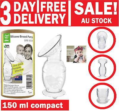 Haakaa Breast Pump Manual Suction Silicone 150 ml FREE 3 DAY DELIVERY bpa free