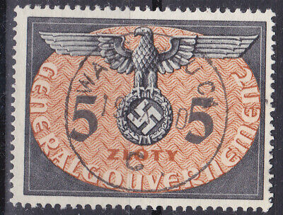 Germany DR / General Government 1940 Dienstmarke Mi. Nr. 15 5 Zloty USED