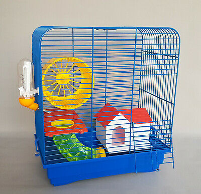Mice Cage Hamster Gerbil With House Water Bottle Rodents Pet Animal Mouse Wheel