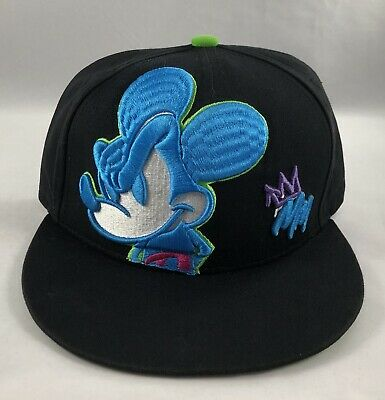 0d6e1a9cd DISNEY MICKEY MOUSE Adult Embroidered Snapback Flat Bill Baseball ...
