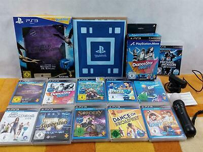 Ps3 Move Set: Move Controller, Kamera + Wonderbook + 11 Move Spiele ! Sehr Gut !